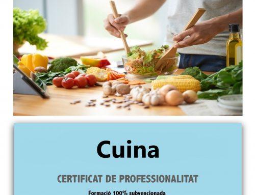 El 28 d'Octubre comencem el certificat de professionalitat de CUINA