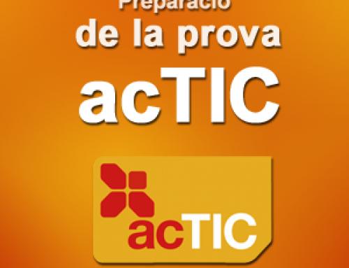 Pròxims cursos d'acTIC de nivell mitjà